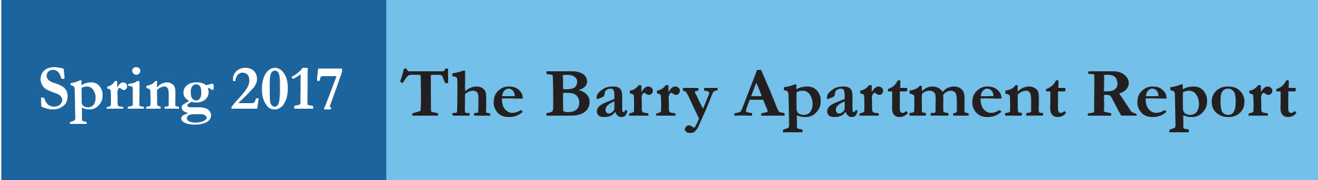 Barry Apartment Report - Spring 2017